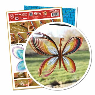 Quilling Template Big Butterfly