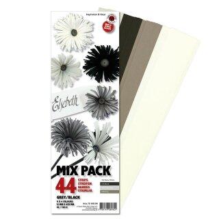 Karen Marie Klip Quilling Papierstreifen Mix Greyblac 35x450mm