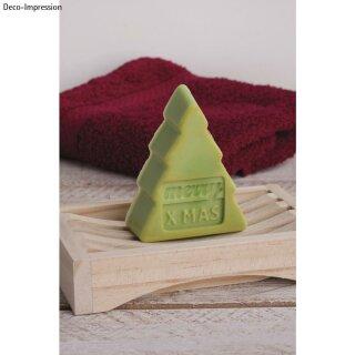 Seifengießform: Weihnachten, Tiefe 3cm, 4 teilig
