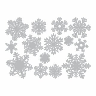 SIZZIX Thinlits Die Set 14PK - Paper Snowflakes, Mini, Tim Holtz - 661599