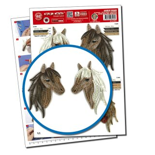 Quilling Template, Horse Head/ Pferde Kopf (ohne Pappe)