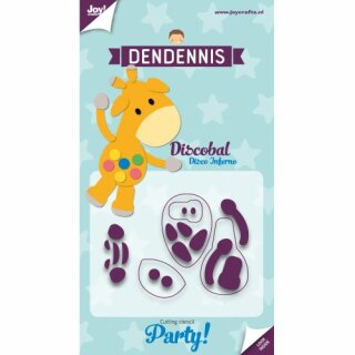 Stanzschablone - Dendennis Party - Discobal