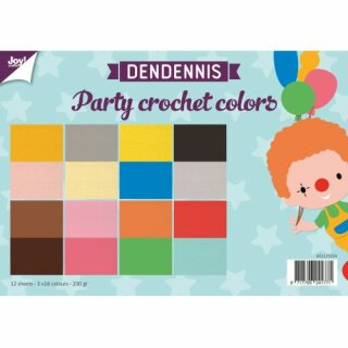 Papierset - Dendennis Party crochet colors