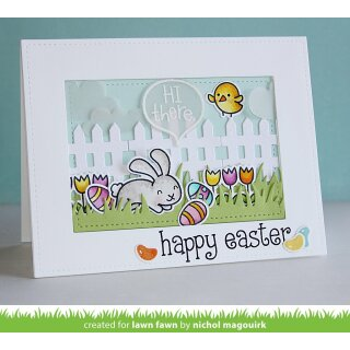 Lawn Fawn, clear stamp, happy easter