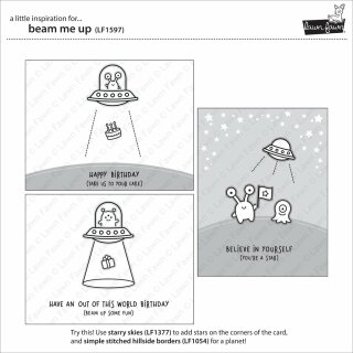 LF1597 Lawn Fawn Clear Stamps 4X6-Beam Me Up