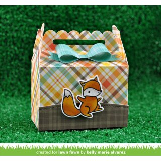 Lawn Fawn, lawn cuts/ Stanzschablone, scalloped treat box