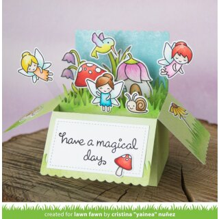 Lawn Fawn, lawn cuts/ Stanzschablone, scalloped box card pop-up