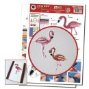 Quilling Template, Small Flamingo