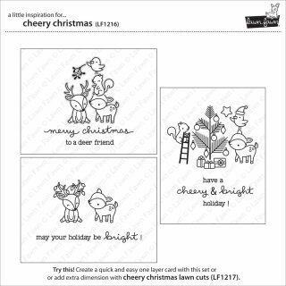 Lawn Fawn, lawn cuts/ Stanzschablone, cheery christmas