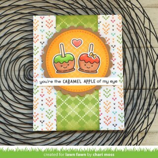Lawn Fawn, clear stamp, caramel apple