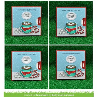 Lawn Fawn, clear stamp, reveal wheel holiday sentiments