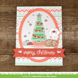 Lawn Fawn, clear stamp, christmas dreams