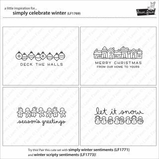Lawn Fawn, clear stamp, simply celebrate winter