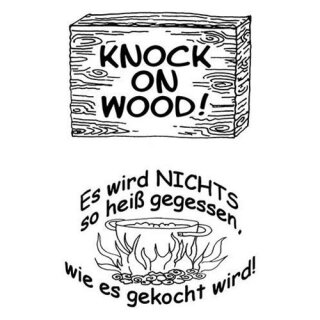 Stempel Clear, Knock on Wood, A7