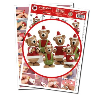 270 Streifen Karen Marie Klip Quilling Papierstreifen Mix Small Christmas Teddies