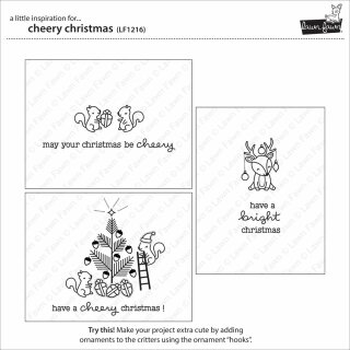 Lawn Fawn, clear stamp, cheery christmas