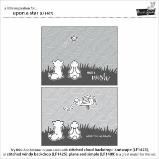 Lawn Fawn, clear stamp, upon a star