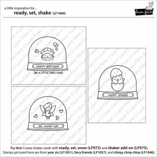Lawn Fawn, clear stamp, ready, set, shake