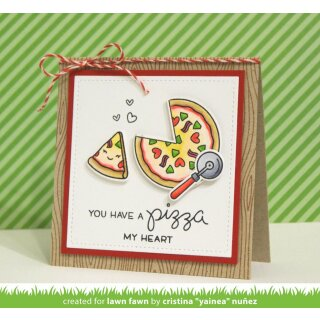 Lawn Fawn, clear stamp, pizza my heart