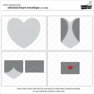 Lawn Fawn, lawn cuts/ Stanzschablone, stitched heart envelope