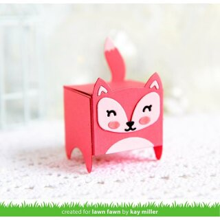 Lawn Fawn, lawn cuts/ Stanzschablone, tiny gift box raccoon and fox add-on