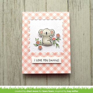 Lawn Fawn, clear stamp, i love you (calyptus)