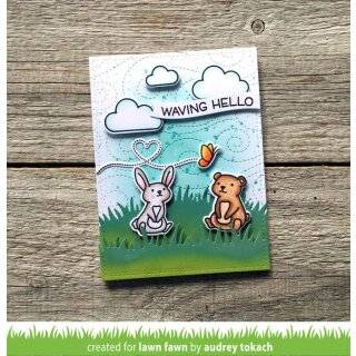 Lawn Fawn, clear stamp, butterfly kisses