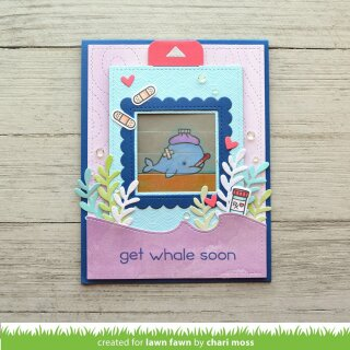 Lawn Fawn, clear stamp, get well before n afters