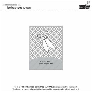 Lawn Fawn, clear stamp, be hap-pea