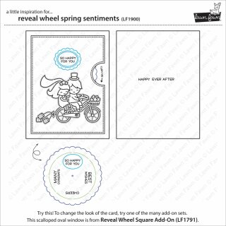 Lawn Fawn, clear stamp, reveal wheel spring sentiments
