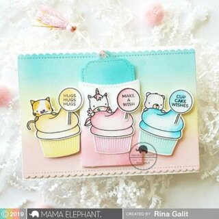 Mama Elephant, clear stamp, Cupcake Wishes