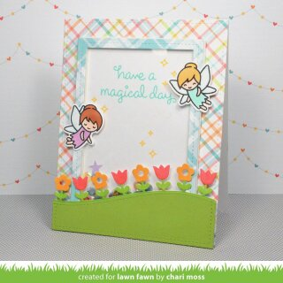 Lawn Fawn, clear stamp, fairy friends