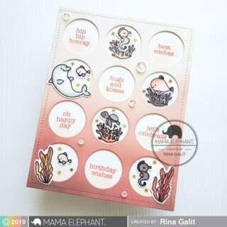 Mama Elephant, clear stamp, Mini Everyday Messages