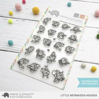 Mama Elephant, clear stamp, Little Mermaiden Agenda