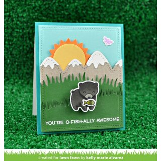 Lawn Fawn, lawn cuts/ Stanzschablone, stitched mountain borders