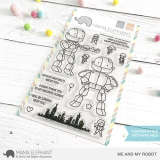 Mama Elephant, clear stamp, Me and My Robot