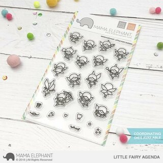 Mama Elephant, clear stamp, Little Fairy Agenda