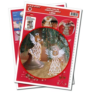 Quilling Template, Christmas Angels Large Extra Template
