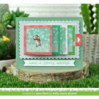 Lawn Fawn, clear stamp, mice on ice