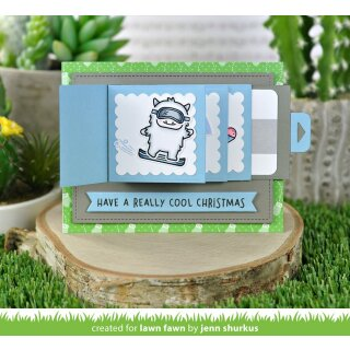 Lawn Fawn, clear stamp, yeti or not