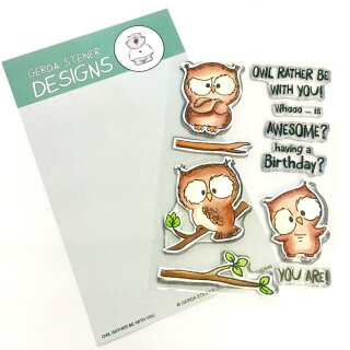 Gerda Steiner Designs, Owl Rather Be With You 4x6 Clear Stamp Set