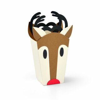 SIZZIX Thinlits Die Set 6PK - Reindeer Bag - 663609