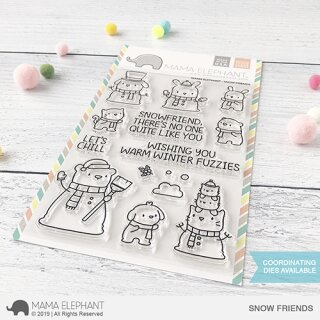 Mama Elephant, clear stamp, Snow Friends