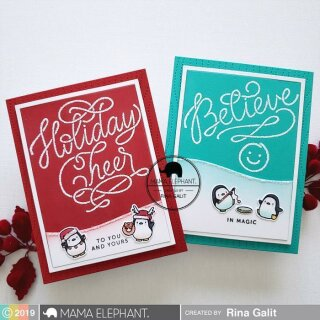 Mama Elephant, clear stamp, Little Penguin Agenda