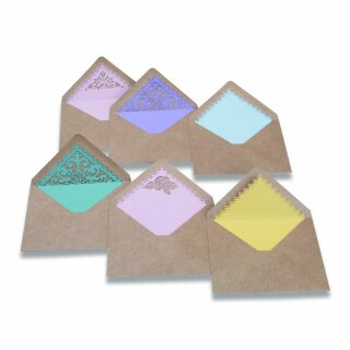 SIZZIX Thinlits Die Set 7PK - Envelope Liners, A7, Intricate - 663586