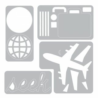 SIZZIX Sidekick Side-Order Set - Thinlits/ Texture Fades - Travel - 662714