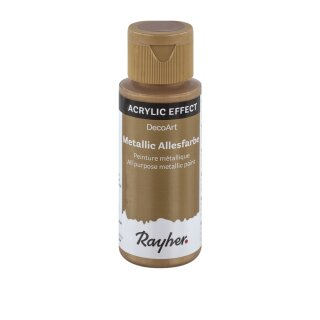 Acrylic-Effect Metallic Allesfarbe, brilliant gold, Flasche 59 m