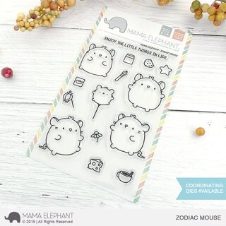 Mama Elephant, clear stamp, Zodiac Mouse