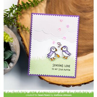 Lawn Fawn, clear stamp, stud puffin