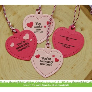 Lawn Fawn, lawn cuts/ Stanzschablone, heart shaker gift tag